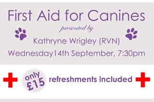 Canine First Aid Talk