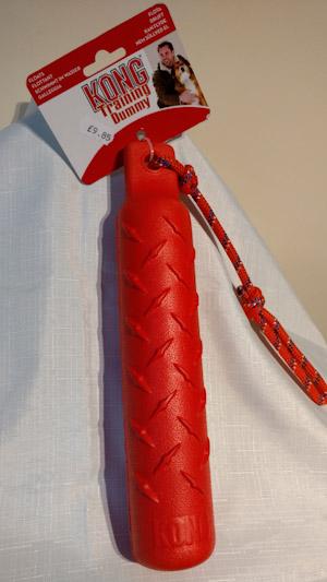 Orange training dummy with rope