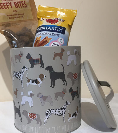 'My Dog is Not Spoilt I'm Just Well' Training Dog Treat Tin